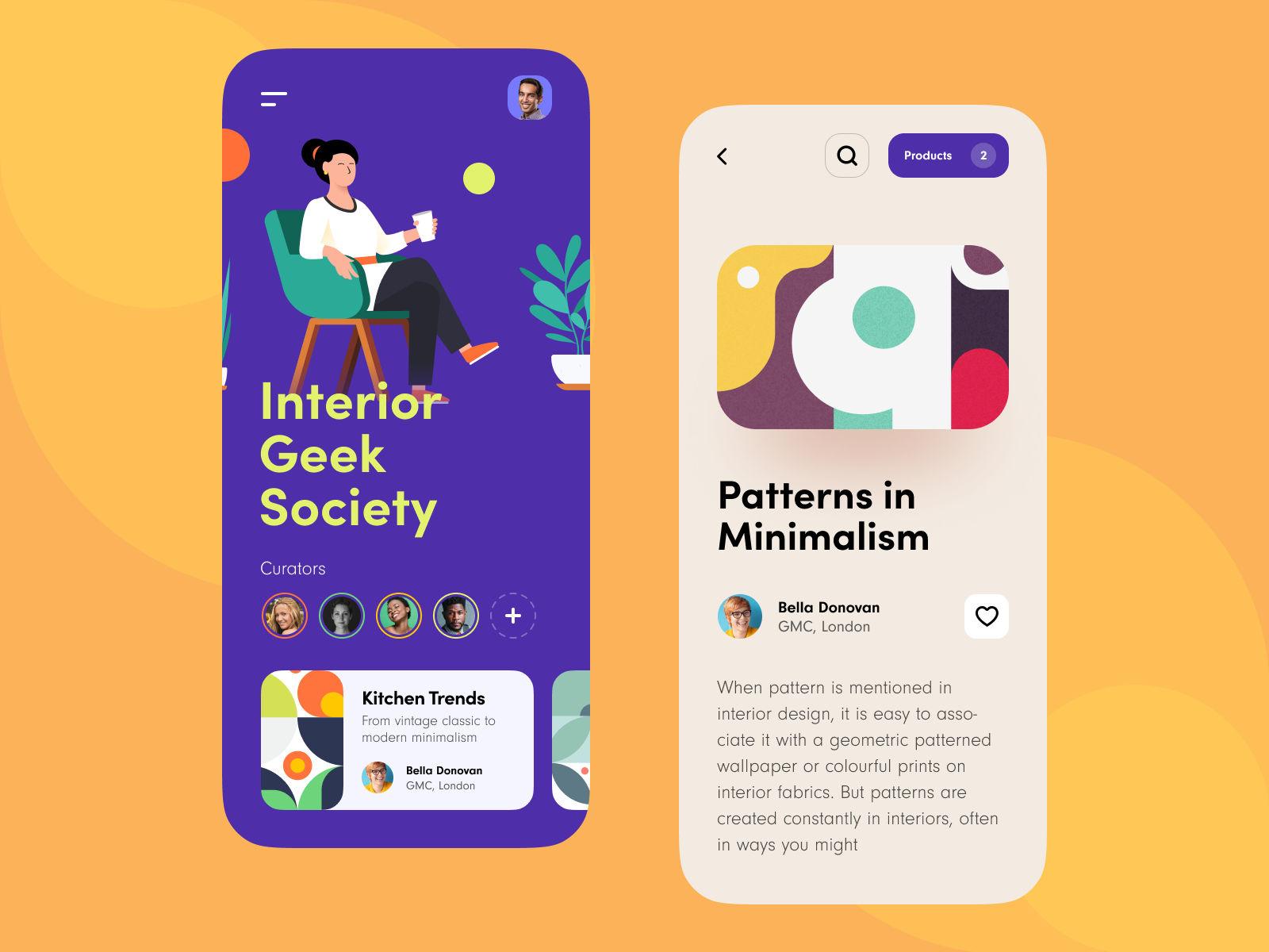 Interior Geek Society Mobile App Mobile App Web App Design App
