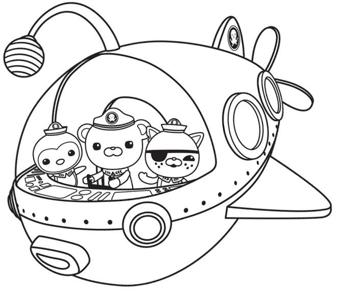 coloring page the octonauts 10 | lachie's birthday | pinterest ... - Octonauts Coloring Pages Print