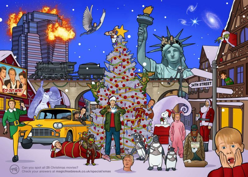 Quiz Can You Name All 25 Christmas Films In This Picture Christmas Picture Quiz Christmas Quiz Classic Christmas Movies