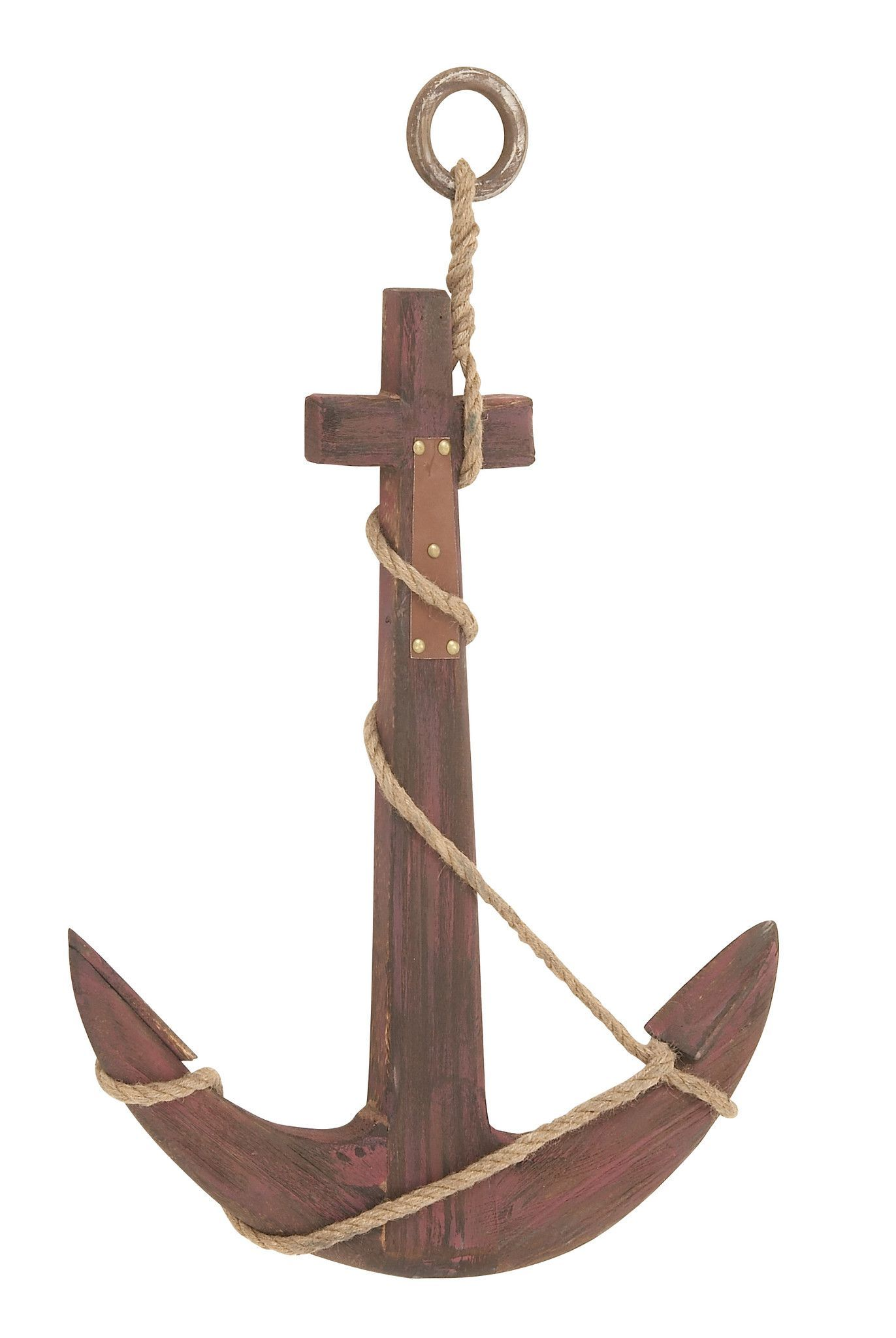 Features: - Wood Rope Anchor Dimensions (inches): L 22 x W 2 x H 29 - Made of quality wood - Durable construction Description: Are you in search of a durable anchor for adorning walls of your abode? C