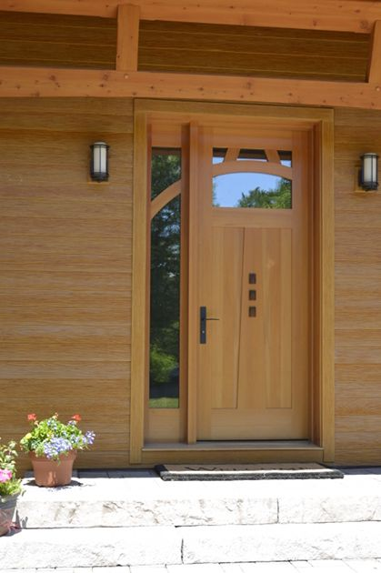 Douglas Fir entry door with Walnut accents. & Douglas Fir entry door with Walnut accents. | Custom Entry Doors ...