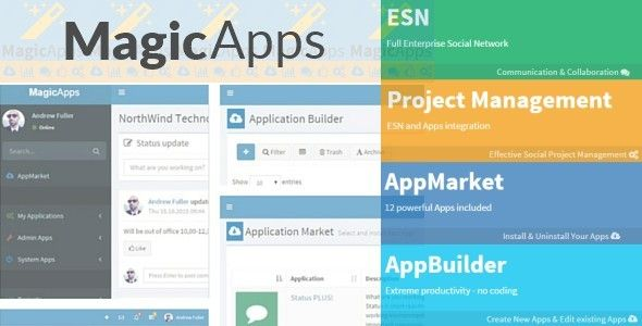 MagicApps - Project Management+ESN+Apps+AppBuilder . MagicApps is unique integrated software package which