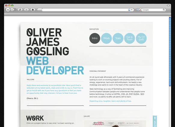 Online Resume Website Goslingohype & Slippers  Via Behance  Web Layout .