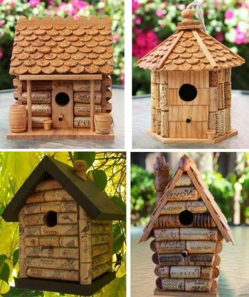 Ideas para reciclar corchos casas de aves reciclaje - Hacer bricolaje en casa ...