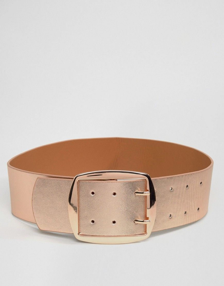 a3f5f221d9 ASOS Rose Gold Wide Buckle Waist Belt - Copper