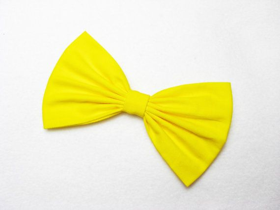#Bows        Bright Yellow Hair Bow for girls hairbow bows for by JuicyBows, $4.99
