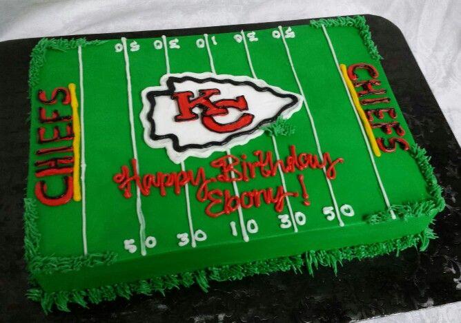 Kc Chiefs Field Birthday Cake Football Birthday Cake Football