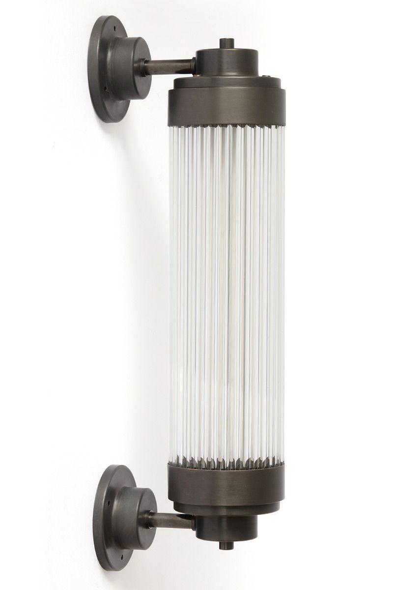 Exklusive Art déco -Wandleuchte mit LED und Kristallglas ...