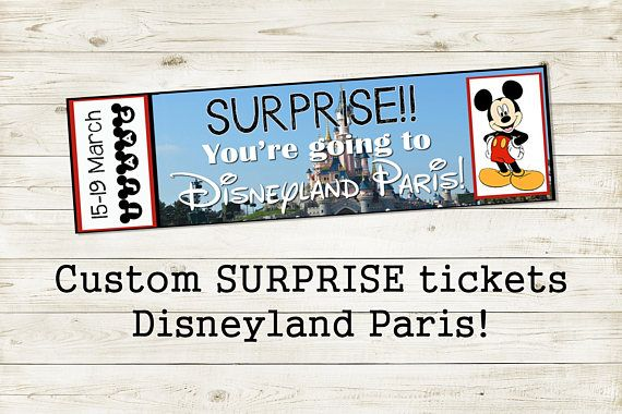 photo relating to You're Going to Disneyland Printable called Pin as a result of upon Etsy Retailer Disneyland tickets