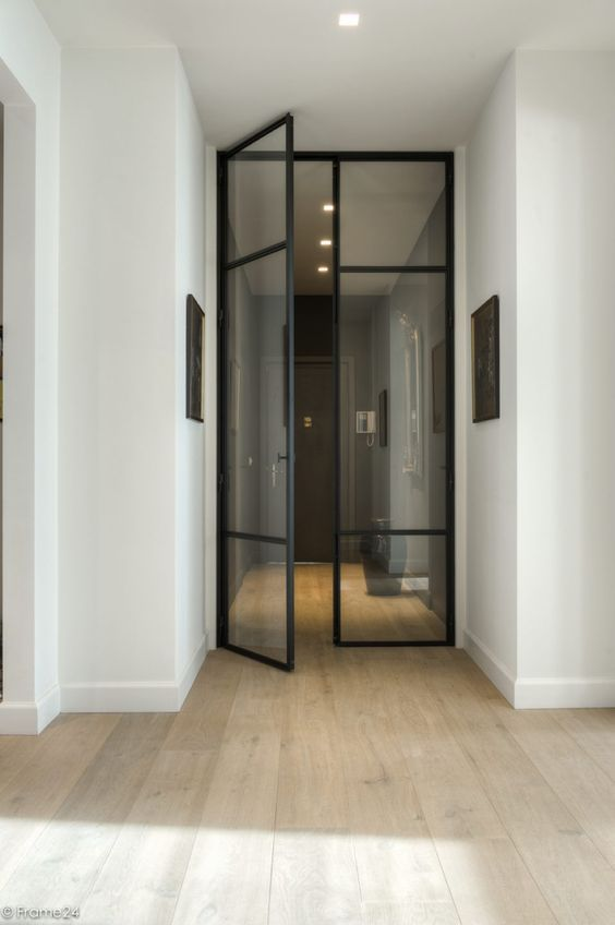 Black Metal Door Passage Interior  Stoneybrook    Black