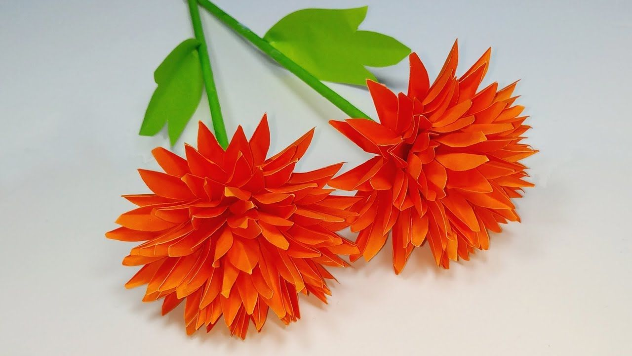 Paper Flower Easy Making Idea Paper Flower Making Tutorial Step By Step Paper Flowers Paper Flowers Craft How To Make Paper Flowers