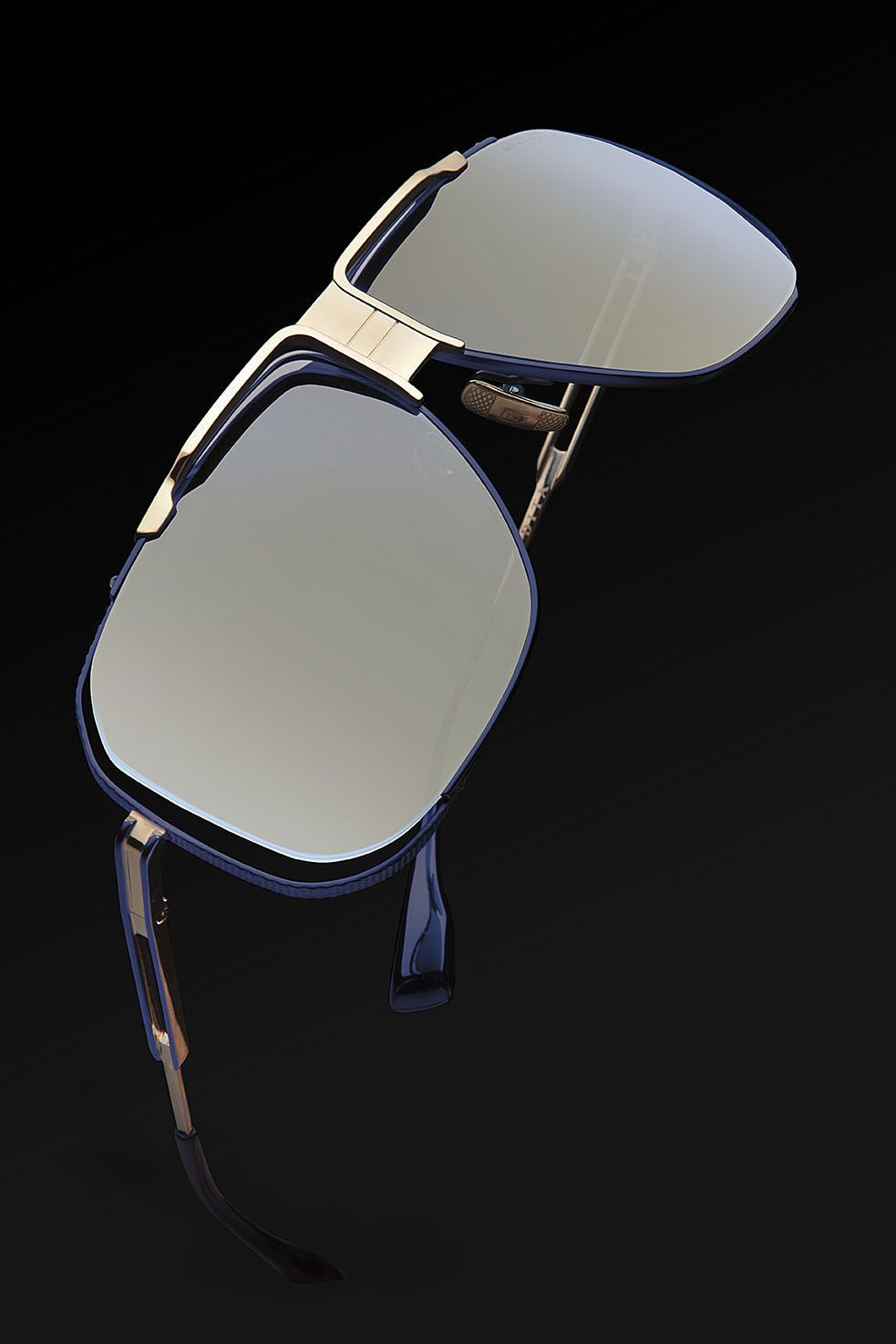 d7b5cf21f3f9 The Dita Cascais in Navy and Gold  DITAeyewear