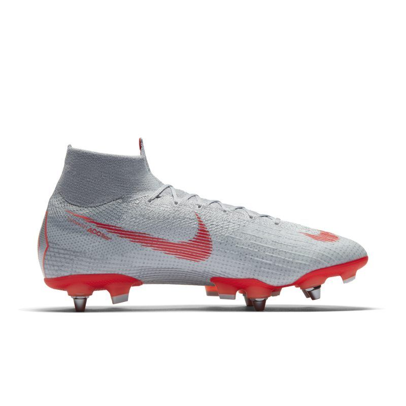 sneakers for cheap d23cb 7af97 Nike Mercurial Superfly 6 Elite SG-Pro Anti-Clog Traction Soft-Ground Pro  Football Boot - Grey