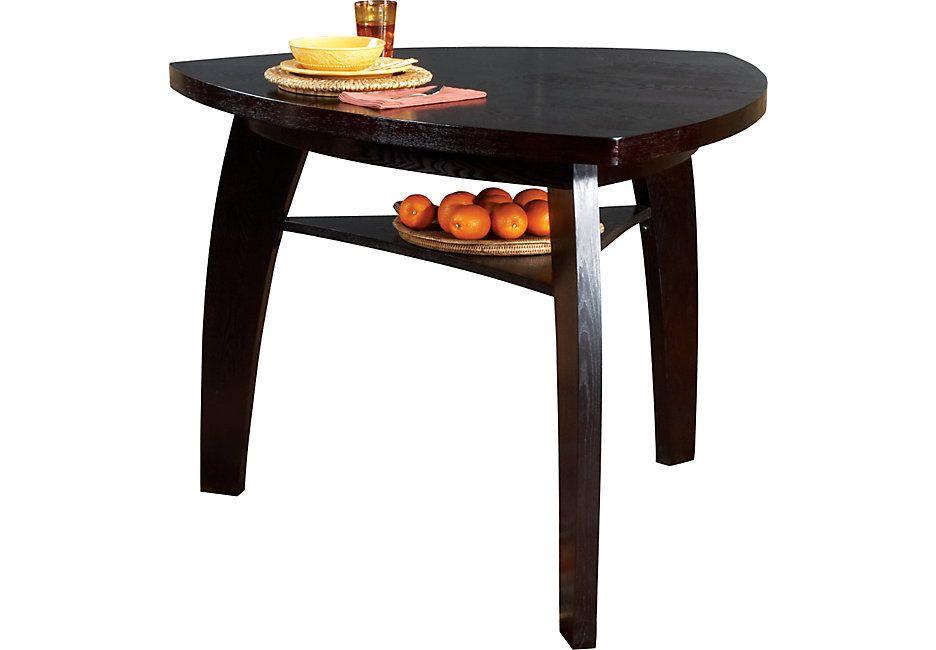 Noah Chocolate Bar Height Dining Table Tables Dark Wood