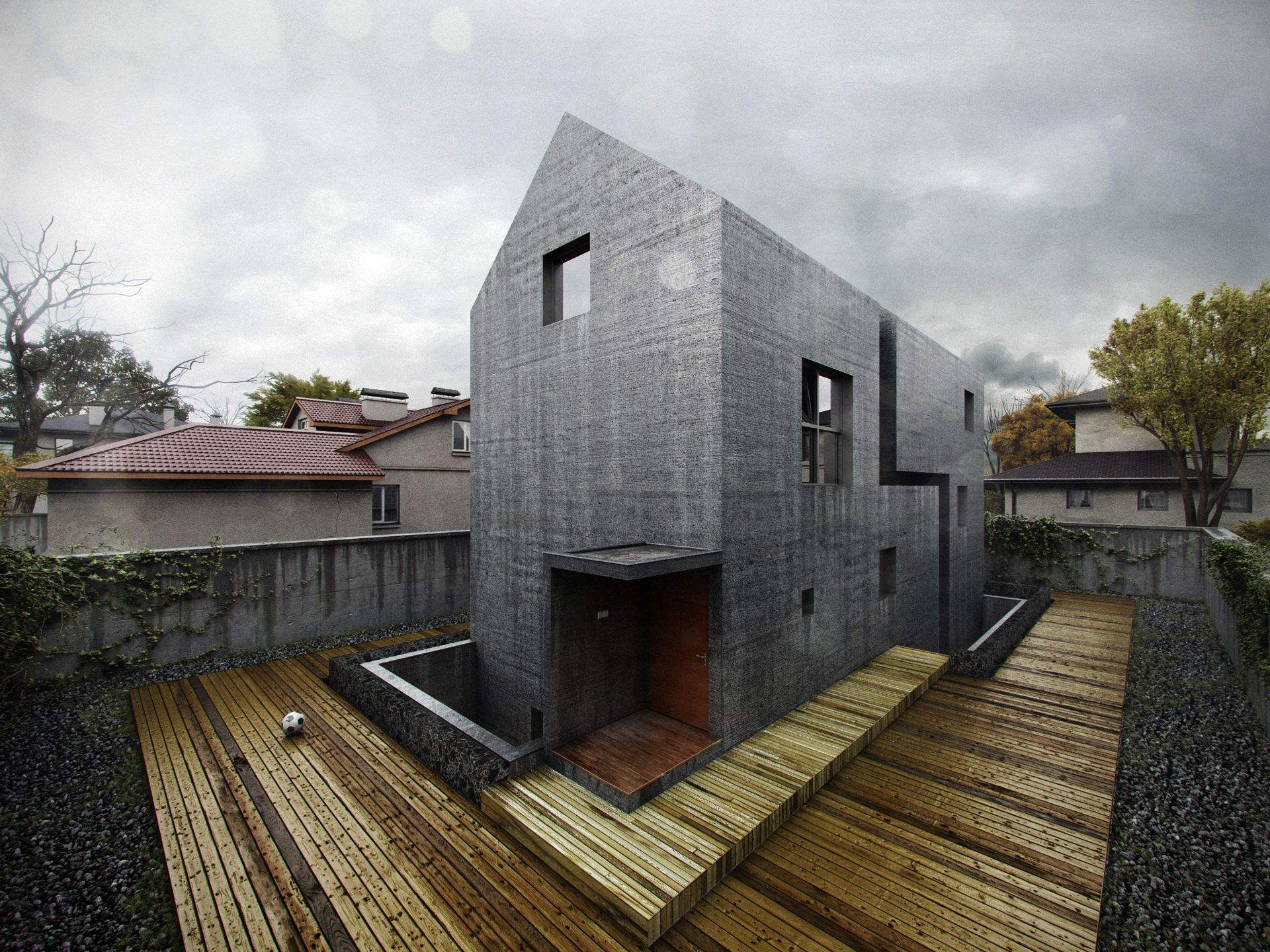 House in Nanjing- 3D visualization by ONE2