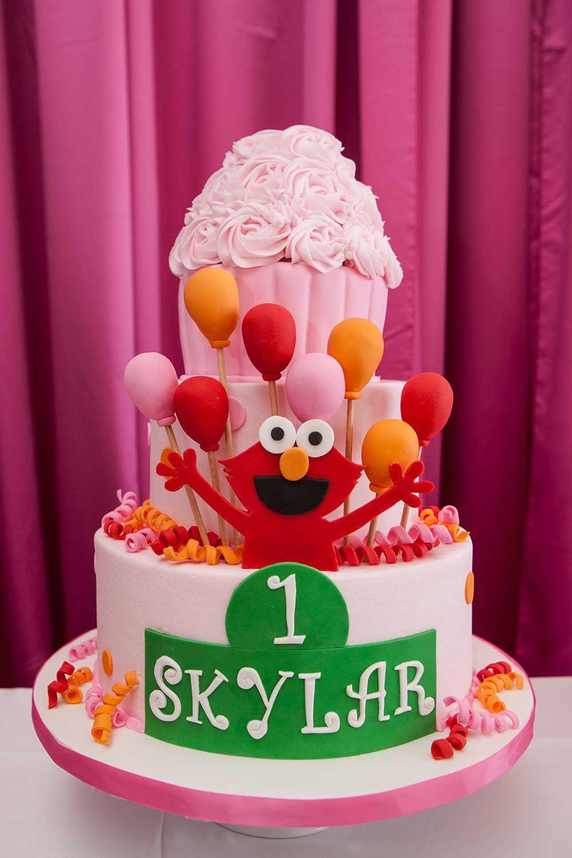 Elmo Themed First Birthday Party Elmo Celebrations And Birthdays