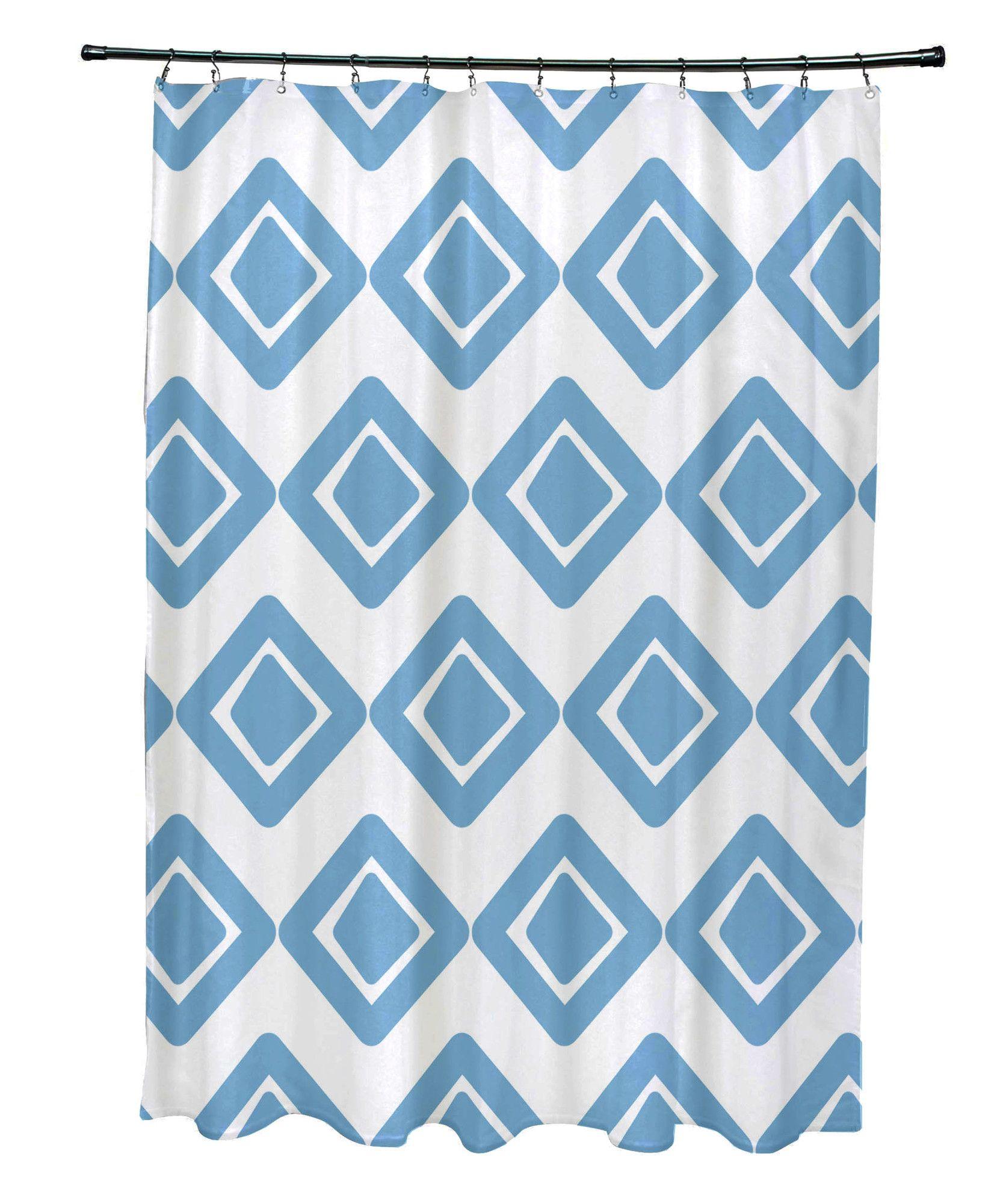 Elaine Diamond Jive 1 Shower Curtain Printed Shower Curtain