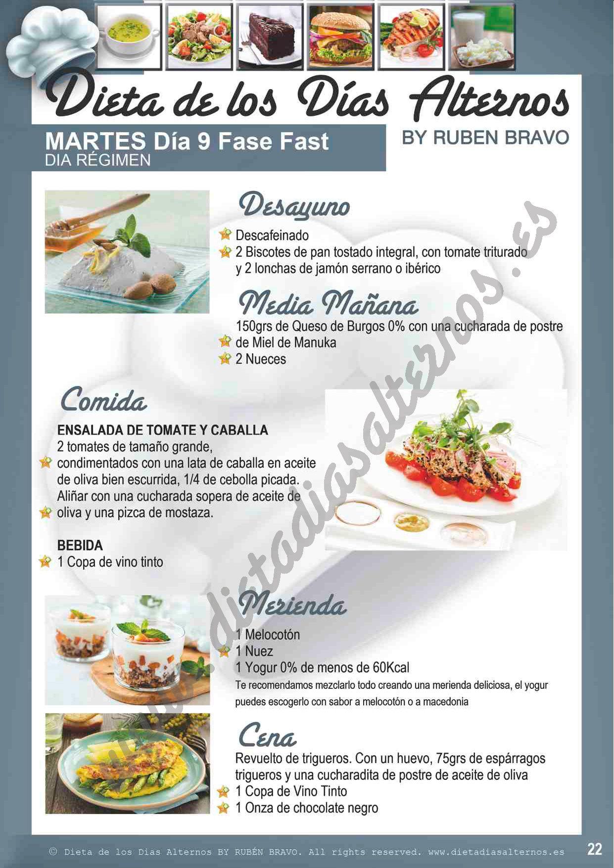 menus de la dieta del vino y el jamon