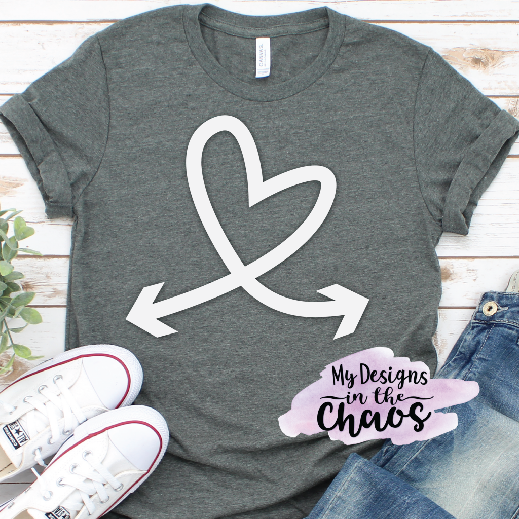Free Arrow and Heart SVG Designs! Perfect for a Silhouette