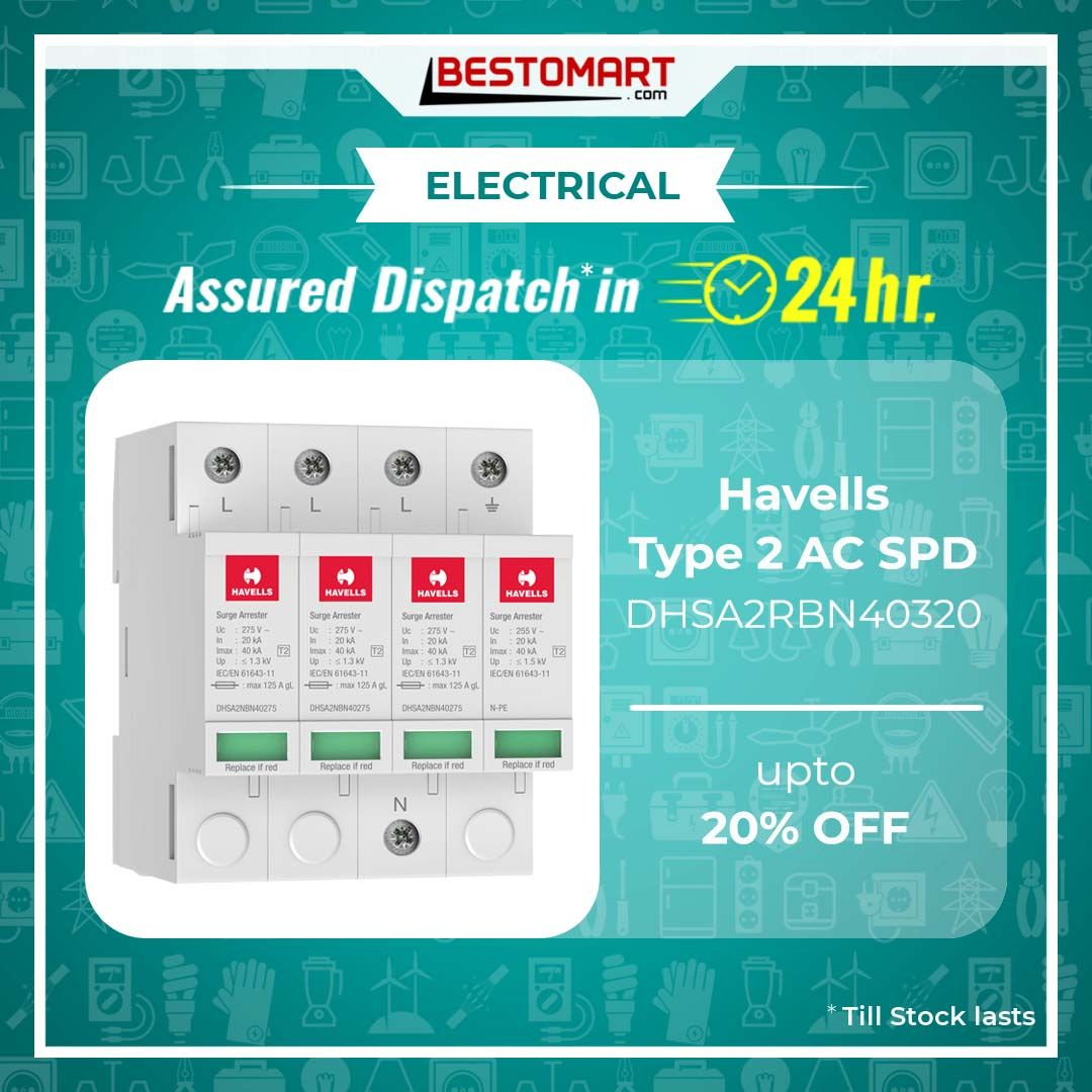 Buy Havells Type 2 Ac Surge Protection Device With Assured 24 Hours Dispatch At Bestomart Vacuum Cleaner Accessories Pressure Washer Accessories Function Generator
