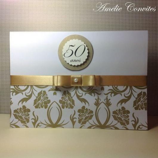 42 Convites Bodas De Ouro Elegantissimos Dicas De Mensagens