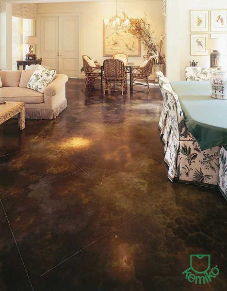 kemiko black concrete floor stain d co maison astuces pratiques pinterest astuces pratique. Black Bedroom Furniture Sets. Home Design Ideas