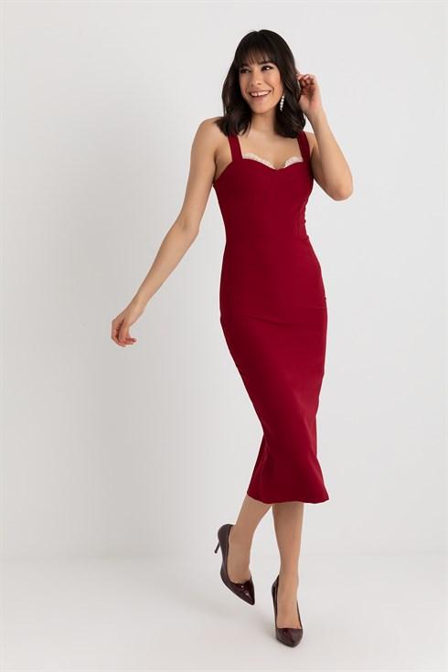 Kalin Askili Kalem Abiye Bordo 2020 The Dress Elbiseler Resmi Elbise