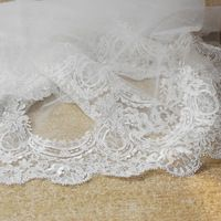2013 Royal long vintage lace illusion wedding bridal veil ,3 meters,available color: ivory or white