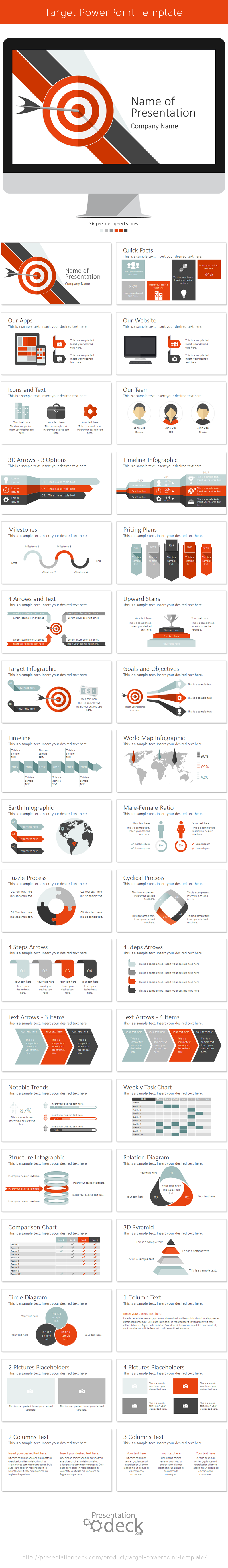 target powerpoint template target template and presentation design