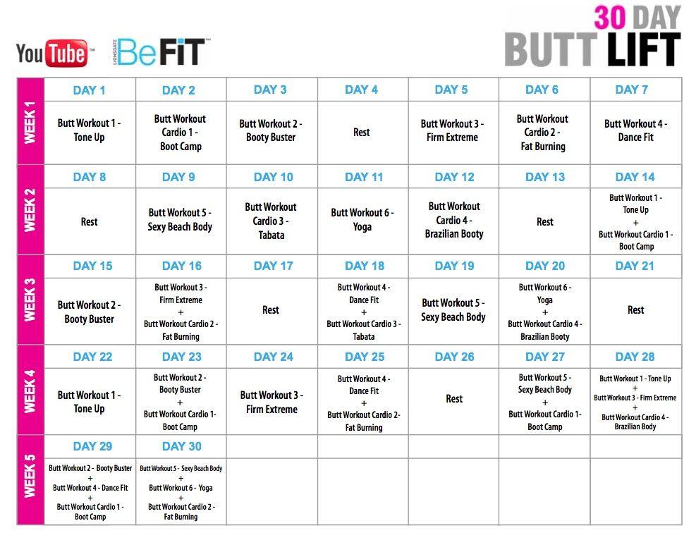 BeFIT 30 Day Buttlift Plan
