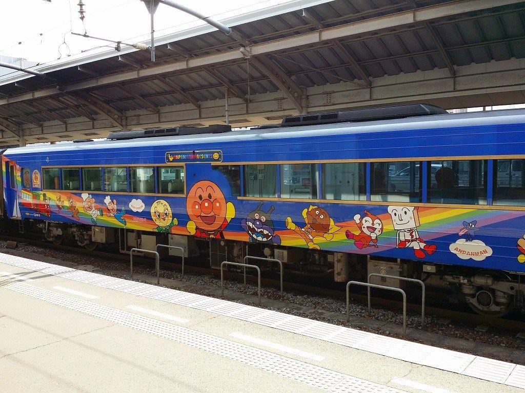 An Anpanman train in Takamatsu Station. #japan  #train #shikoku  #takamatsu  #anpanman