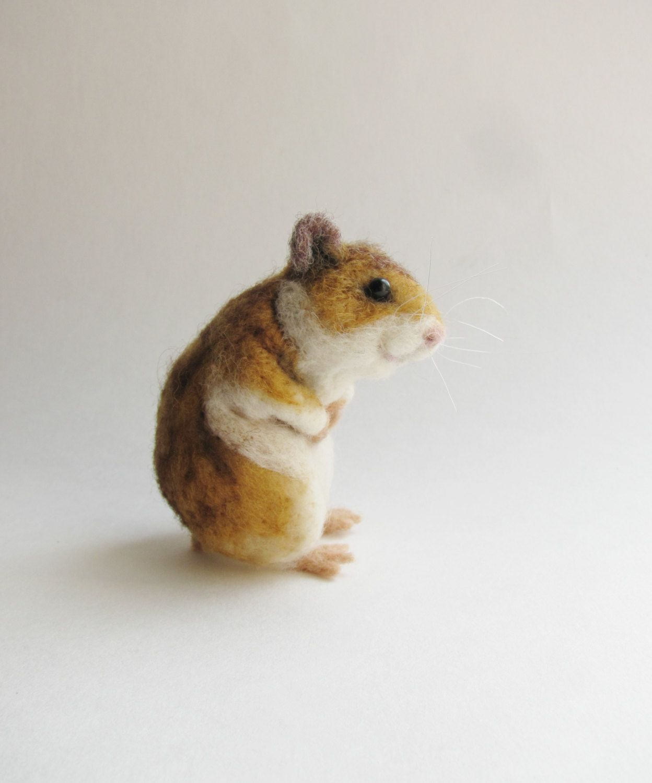 Needle felted hamster by HandmadeByNovember on Etsy