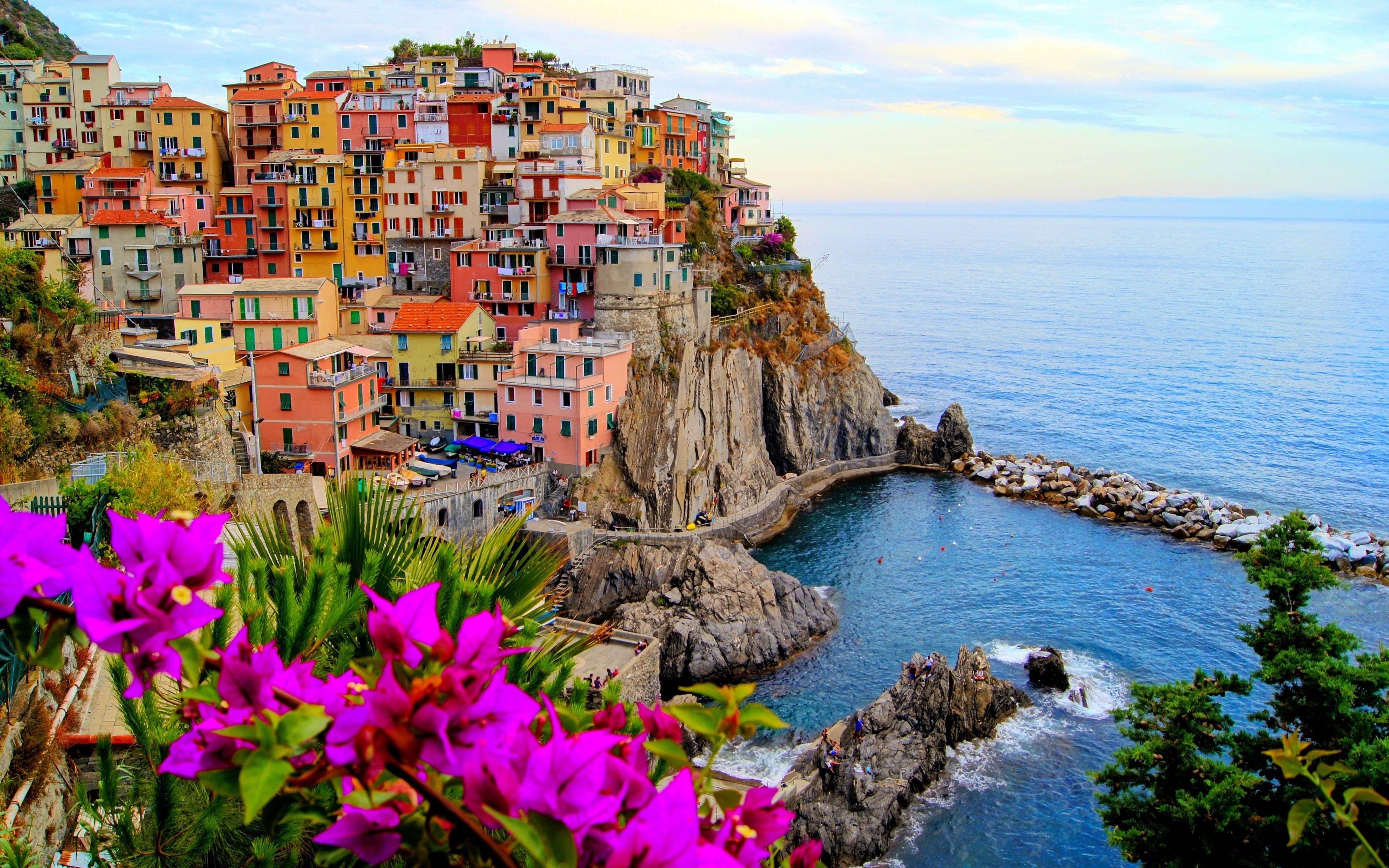 Italy Landscape City House Building Colorful Water Manarola 4k Wallpaper Hdwallpaper Desktop Summer Travel Travel Photos Travel