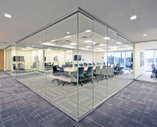 A Guide To Glass Entrances And Wall Systems Glass Wall Office Office Interior Design Modern Modern Office Interiors