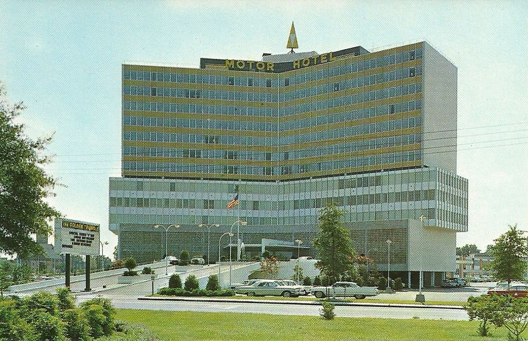 The original Golden Triangle Hotel in Norfolk its opening year, 1961