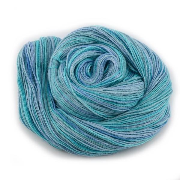 Opal Blue Hand Dyed 4ply Baby Alpaca Yarn | Shop Wool Online
