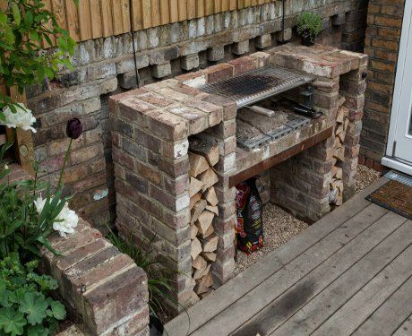 Built in barbecue google search gardening pinterest for Built in outdoor grill plans