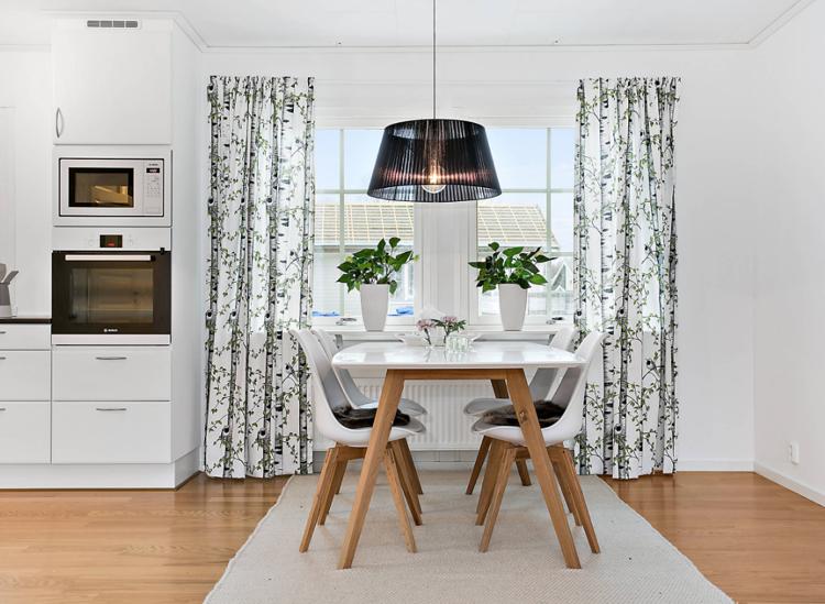 Heller Teppich Unter Esstisch Waschbar Einrichtung Skandinavisch Modern  #interiors #design