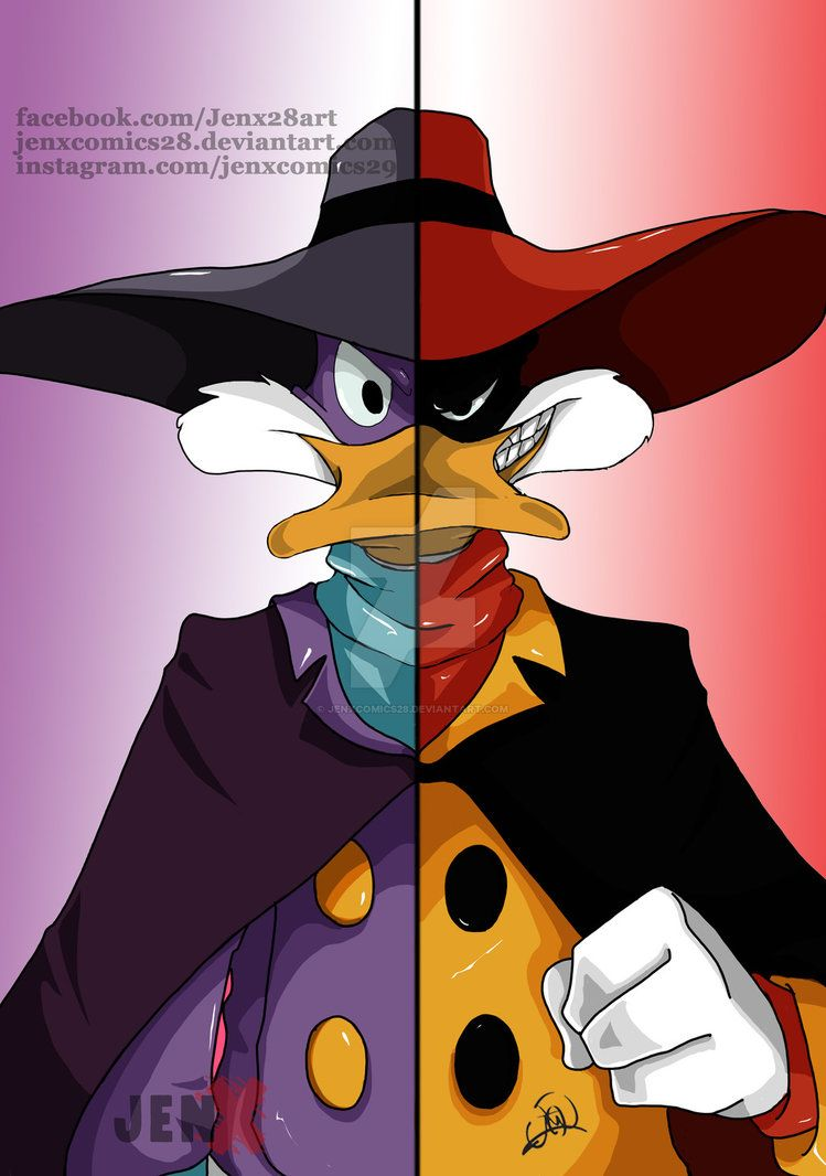 darkwing duck and negaduck by jenxcomics28deviantartcom