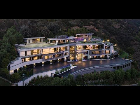 100,000,000 Modern Contemporary Bel Air Mega Mansion