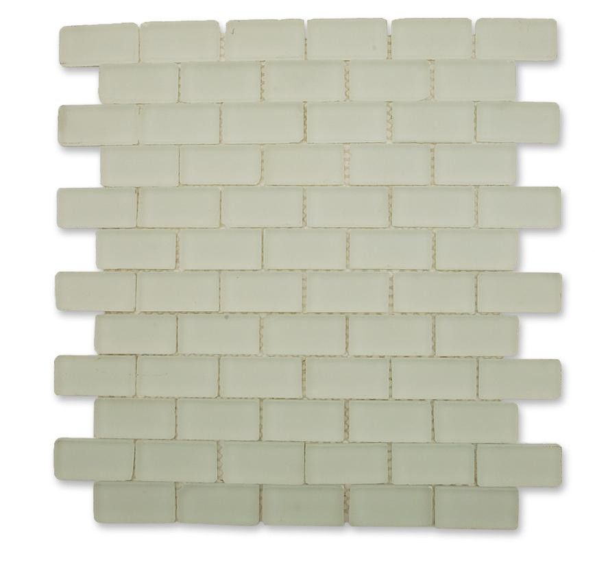 Loft Ice White Frosted 1 X 2 Tumbled Edge Gl Tiles 13 99