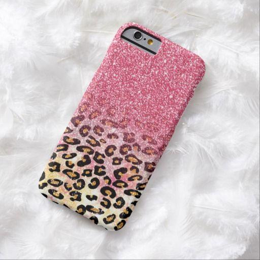 promo code 11f3f 7345e Cute pink faux glitter leopard animal print Case-Mate iPhone case ...