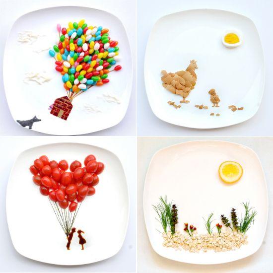 Artistas de la comida: ideas para comer jugando