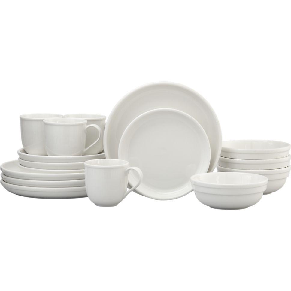 Cafeware II 16-Piece Dinnerware Set | Crate and Barrel