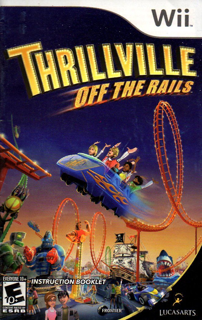 Thrillville Off The Rails Wii Instruction Booklet Nintendo Wii