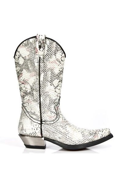 White snake cowboy boots for men - Mes