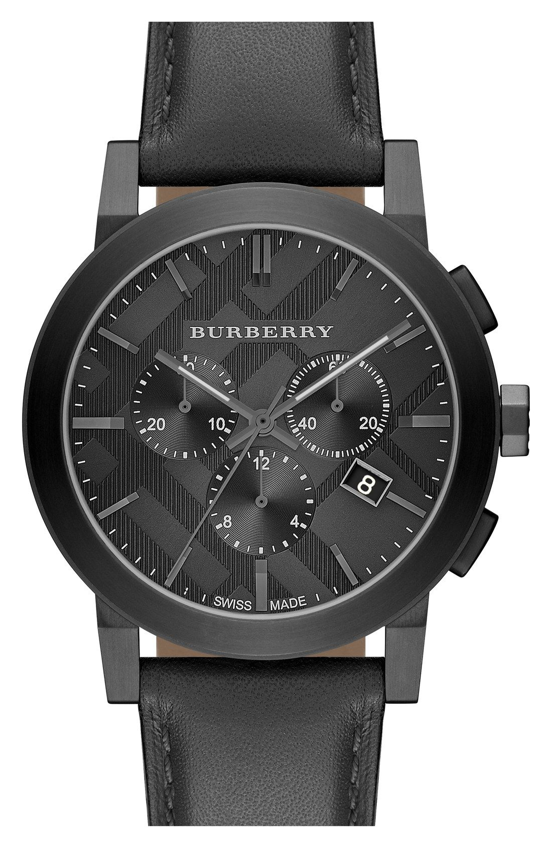 fe70e6fc544 Treating Dad to this rich leather Burberry watch for Father s Day ...