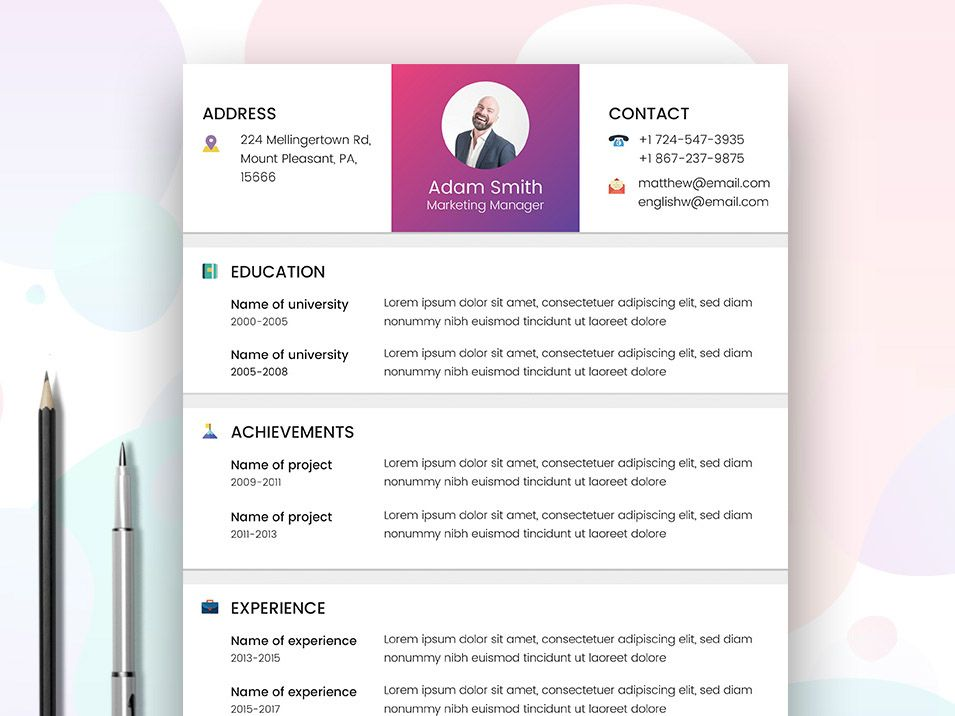 Free Marketer Resume Template  Free Resume Templates
