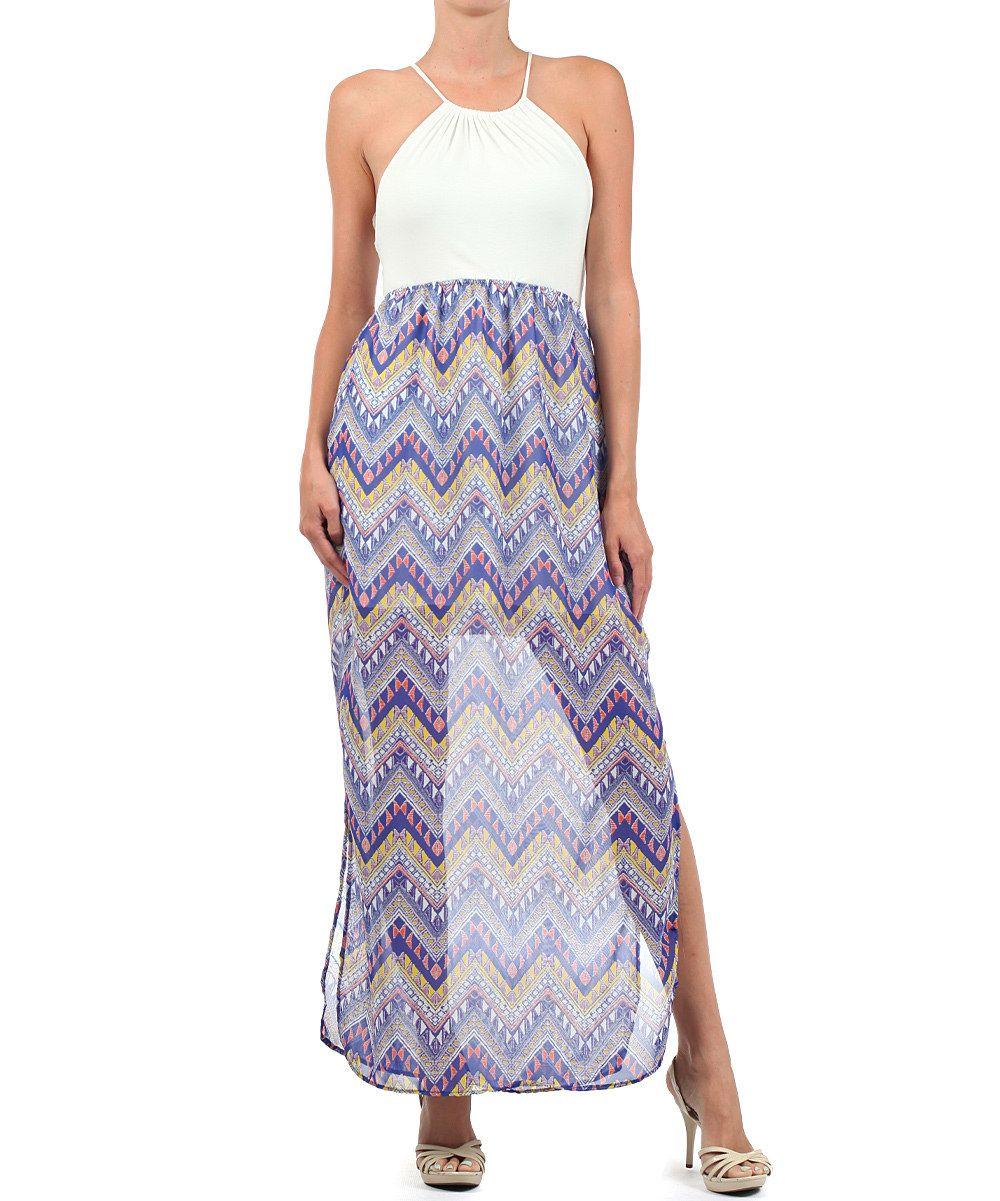 Loving this blue zigzag maxi dress on zulily zulilyfinds zulily