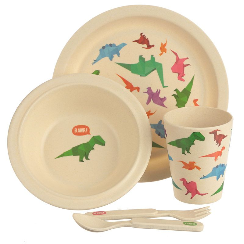 Bambootique Eco Friendly Dinosaur Design Kids Dinner Set If you are looking for a range that  sc 1 st  Pinterest : dinosaur dinnerware - pezcame.com